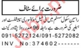 Racines School System Jobs 2020 in Peshawar Cantt KPK