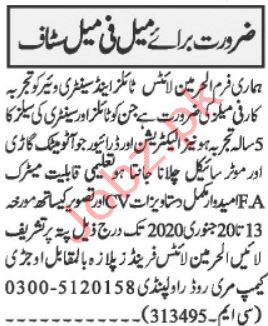 Al Harmain Lights Tiles & Sanitary Wares Jobs in Rawalpindi