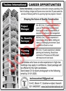 Techno International Jobs 2020 In Karachi 2020 Job