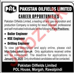 Pakistan Oilfields Limited POL Jobs For Engineering Staff