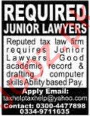 Lawyer Jobs in Tax Law Firm