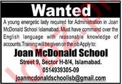Lady Administrator Job in Islamabad