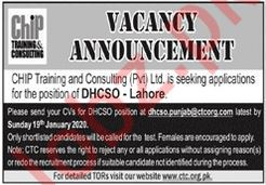 Chip Training & Consulting Limited NGO Job in Lahore
