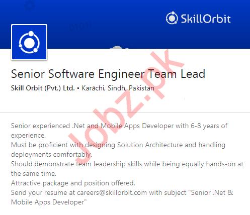 Software Engineer Job in Karachi