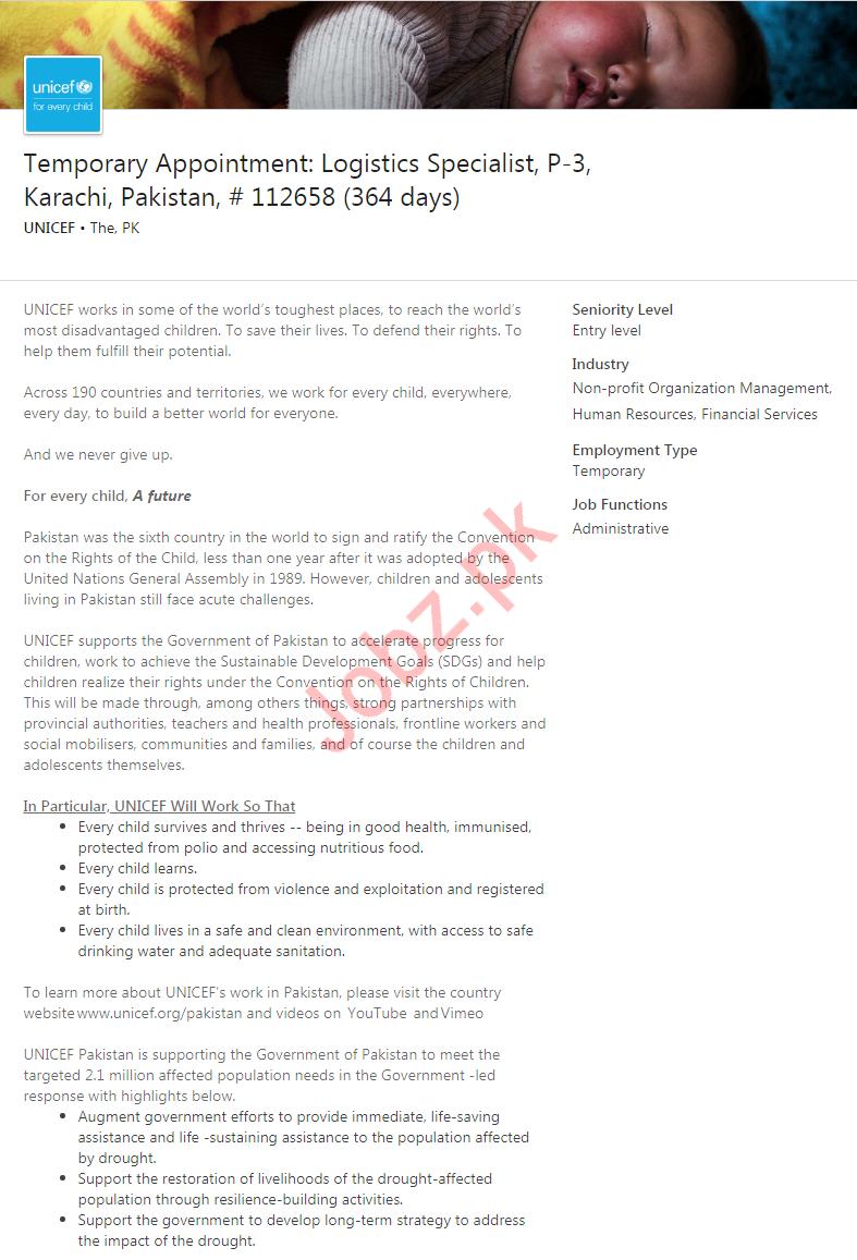 Logistics Specialist Job in Karachi