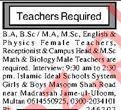 Islamic Ideal Schools System Jobs 2020 in Multan