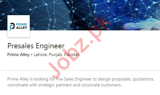 Pre Sales Engineer Job 2020 in Lahore