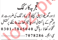 Cook Required For House
