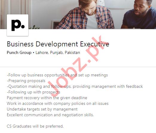 Business Development Executive Job 2020 For Lahore