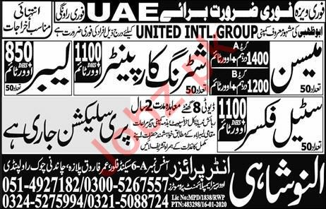 Construction Staff Jobs in UAE