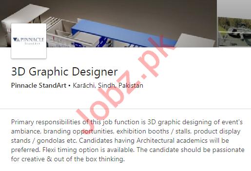 3D Graphic Designer Job 2020 in Karachi