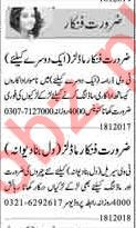 Daily Acting & Modeling Staff Jobs 2020 in Lahore