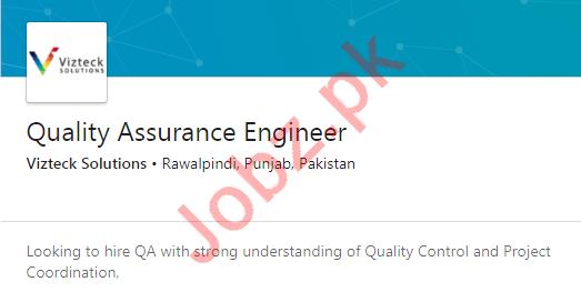 Quality Assurance Engineer Job 2020 in Rawalpindi