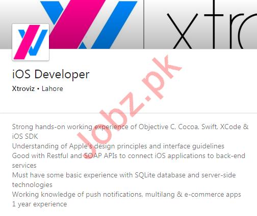 iOS Developer & PHP Developer Jobs 2020 in Lahore