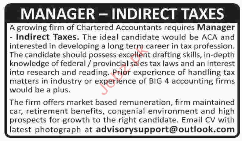 Chartered Accountant Firm Jobs in Karachi