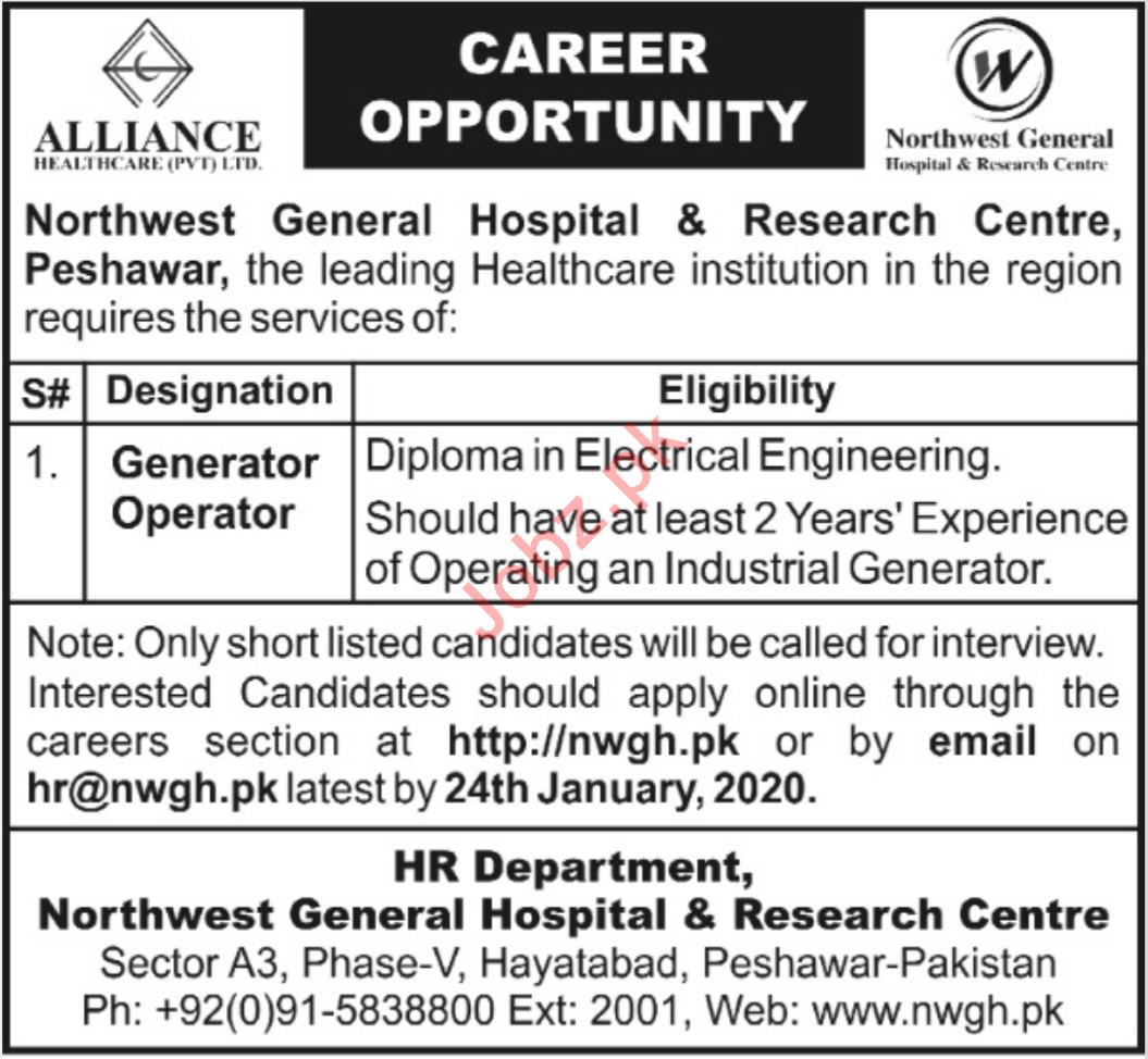 Northwest General Hospital & Research Centre Jobs 2020