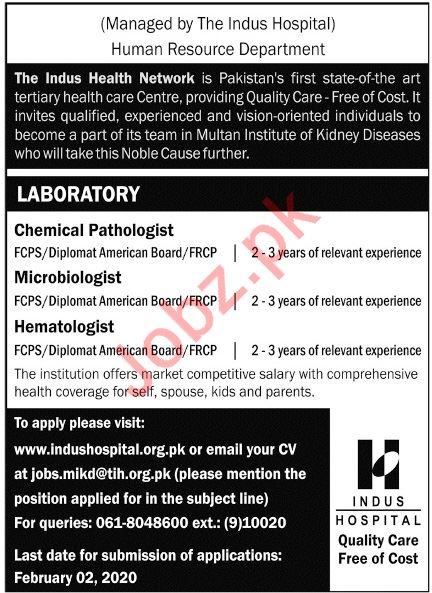 The Indus Health Network Jobs 2020 in Multan