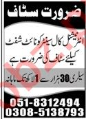 Call Center Staff Jobs 2020 in Islamabad