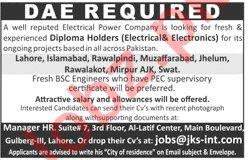 Electrical & Electronics Technician Jobs 2020 in Islamabad
