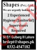 Shapes Private Limited Janitorial Supervisor Jobs 2020