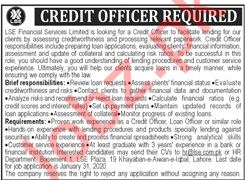 Credit Officer Jobs in LSE Financial Services Limited