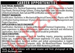 Management Staff Jobs in IES Company