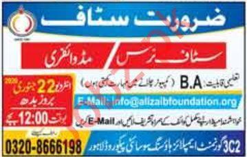 Ali Zaib Foundation Jobs 2020 in Lahore
