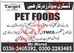 Target PET Foods Islamabad Jobs 2020 for Distributors