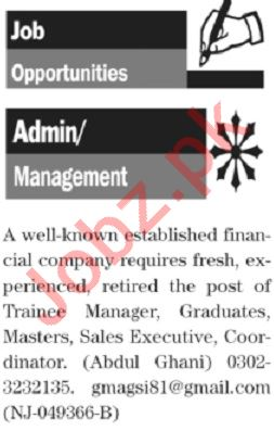 The News Sunday Classified Ads 19 Jan 2020 for Admin Staff