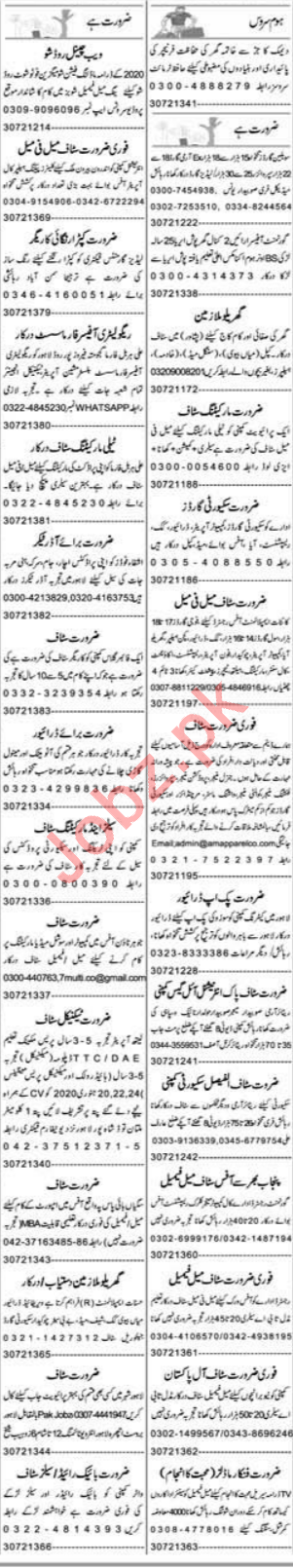 Express Sunday Lahore Classified Ads 19 Jan 2020