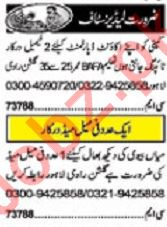 Khabrain Sunday Classified Ads 19 Jan 2020 for Ladies Staff