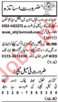 Nawaiwaqt Sunday Classified Ads 19 Jan 2020 Teaching Staff