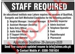 Management Jobs in Educational Institute