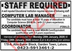 Educational Institution Coordinator & Manager Jobs 2020