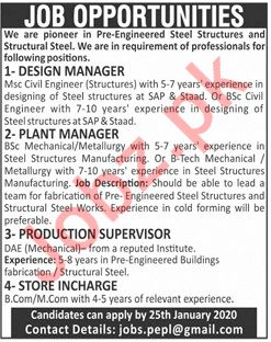 Management Jobs in Steel Structural Mill
