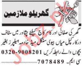 Daily Jang House Staff Jobs 2020 in Peshawar