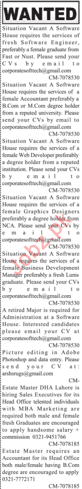 Software Houses Jobs 2020 in Lahore