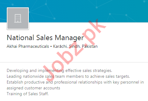 Product Manager & National Sales Manager Jobs 2020
