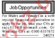 Financial Organization Management Staff Jobs 2020