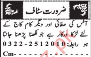 Miscellaneous Staff Jobs 2020 in Quetta