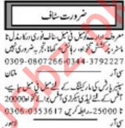 Daily Khabrain Marketing Staff Jobs 2020 in Multan