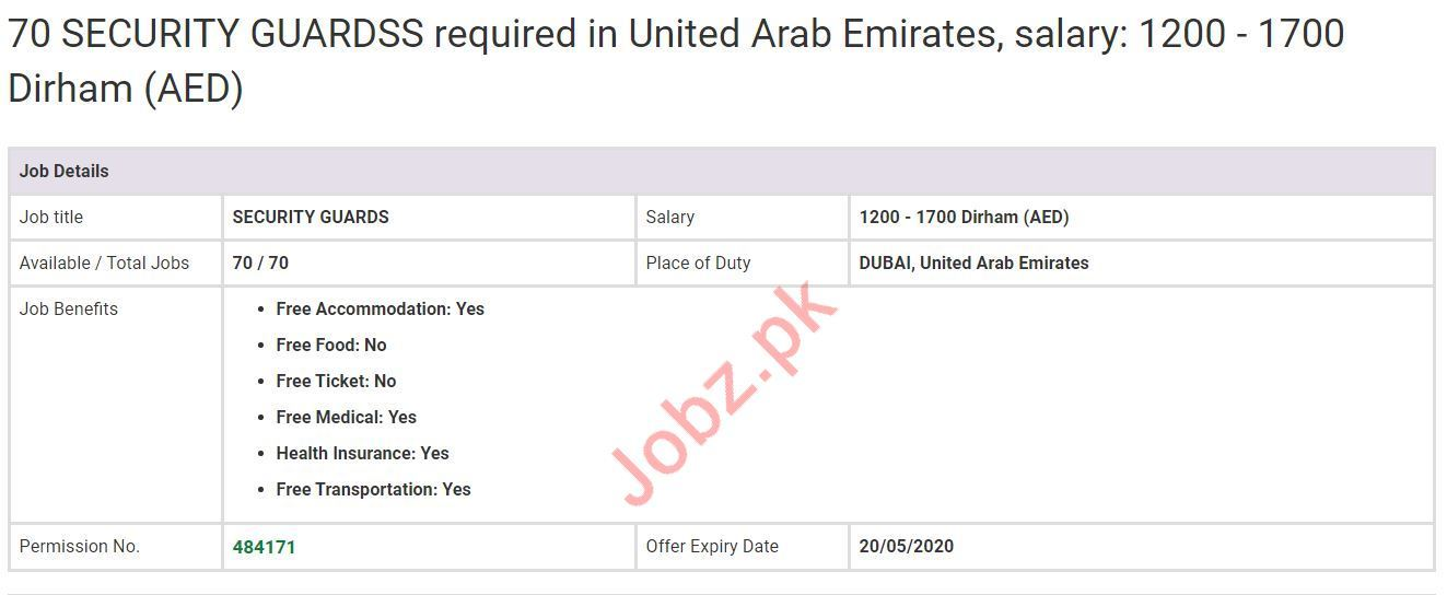 Security Guard Jobs in Dubai UAE