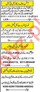 Daily Khabrain Management Staff Jobs 2020 in Lahore