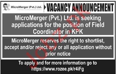 Field Coordinator Jobs 2020 in MicroMerger Islamabad