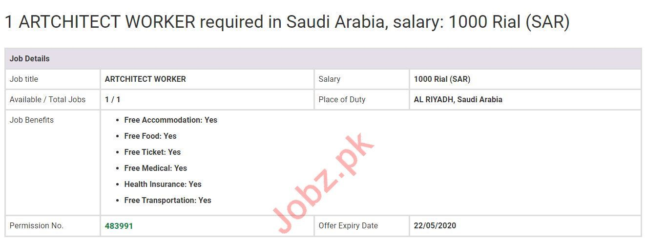 Architect Worker Jobs Open in Saudi Arabia