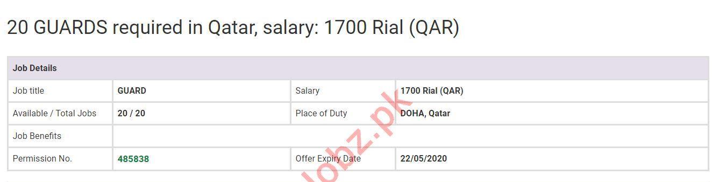Security Guards Jobs 2020 in Doha Qatar