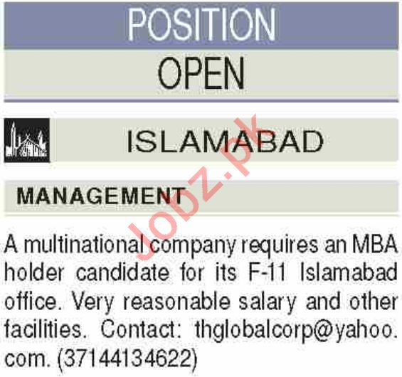 Marketing Manager Jobs 2020 in F-11 Islamabad