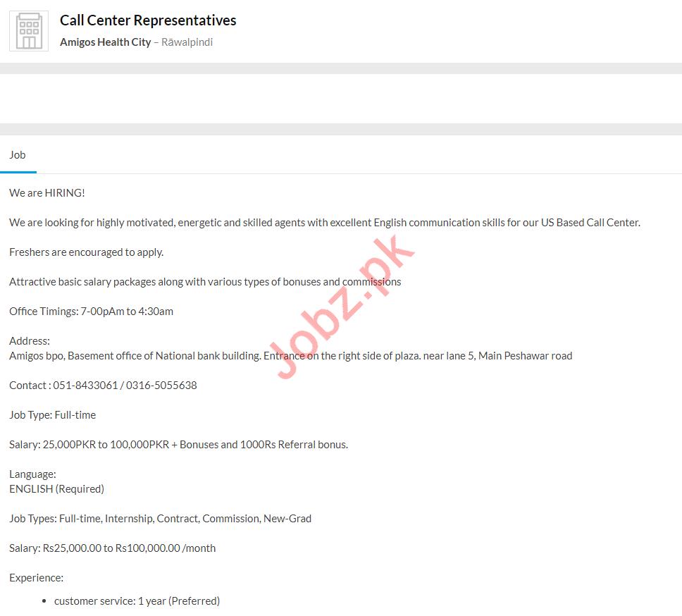 Call Center Representatives Jobs 2020 in Rawalpindi
