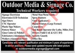 Outdoor Media & Signange Company Jobs 2020 in Karachi