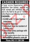 Cashier Jobs in Phoenix Company